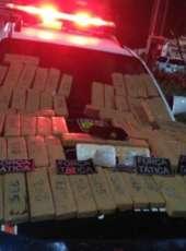 Força Tática apreende 52 kg de drogas vindos do Rio Grande do Norte em rodovia federal