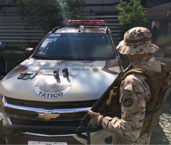 Duas armas de fogo são apreendidas em ações do Cotar na AIS 20