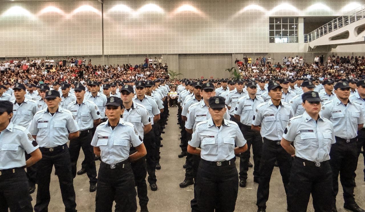 Estado do Ceará ganha reforço de mais 1.319 policiais militares na manhã desta quarta-feira (13)