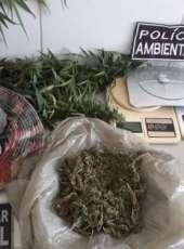 Homem é preso com drogas durante ação do BPMA na AIS 19
