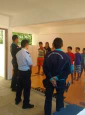 Policiais Militares da Companhia do Pecém iniciam projeto de Jiu-Jítsu com crianças de escolas públicas