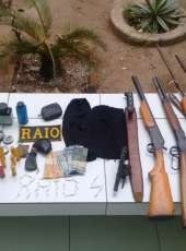 BPRAIO realiza apreensão de armas de fogo, munições e entorpecentes ilícitos no município de Monsenhor Tabosa-CE