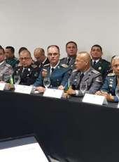 Comandantes da PM e dos Bombeiros do Ceará participam de reunião da Senasp em Brasília