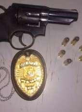 Suspeito de cometer assalto é preso e arma de fogo é apreendida pela Polícia Militar em Caucaia