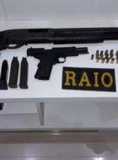 Denúncia enviada ao CPRaio resulta nas apreensões de armas de fogo na RMF