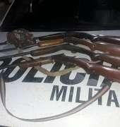 Quatro armas de fogo são apreendidas por militares do BPMA em Araripe