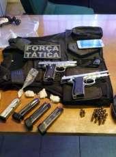 Duas pistolas são apreendidas em ação policial em Maranguape