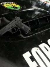 PMCE prende em flagrante adolescentes com moto roubada e arma de fogo