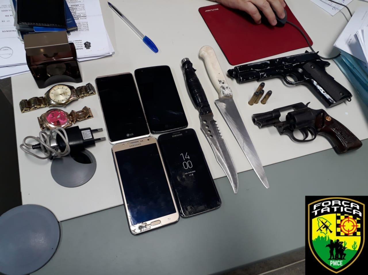 PMCE prende suspeito por roubo de veículo