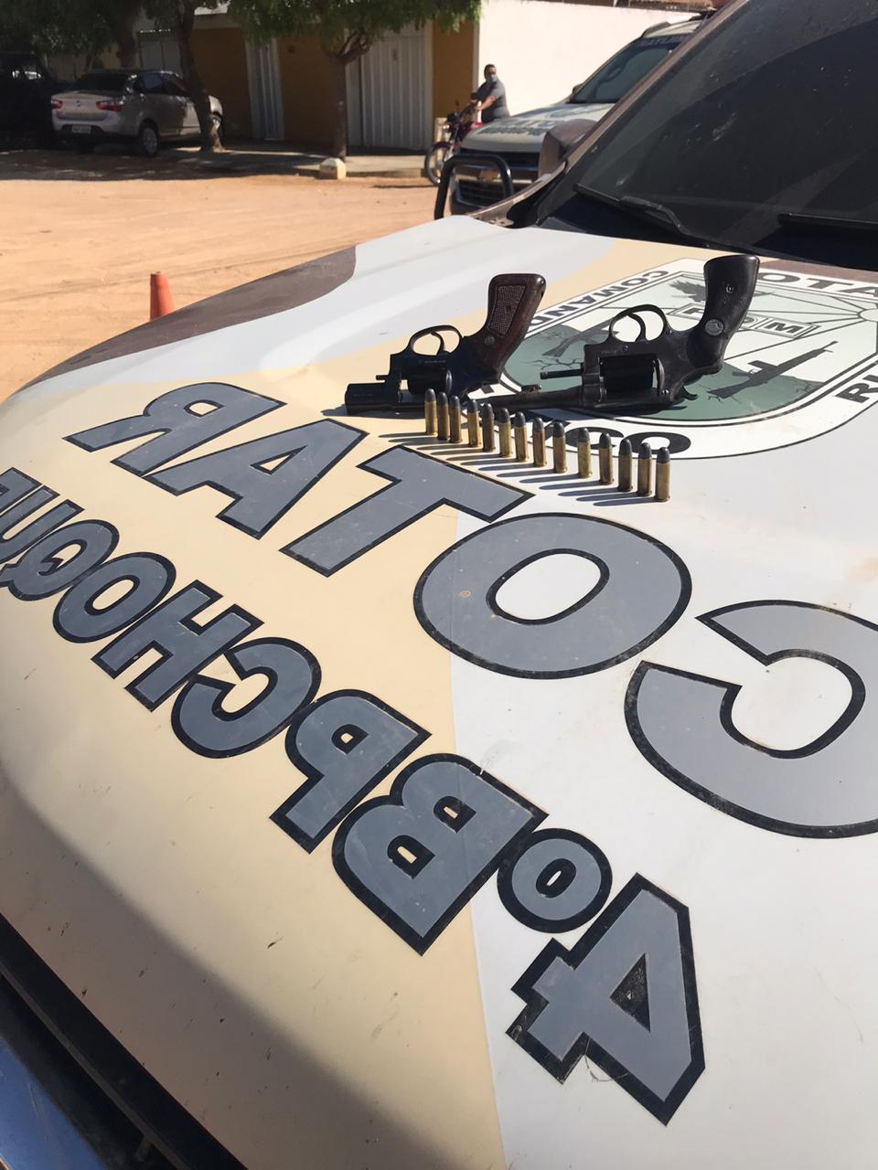 Mais duas armas de fogo são retiradas de circulação pelo COTAR em Icó-CE