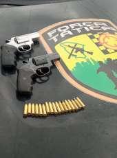 PMCE prende dupla por posse ilegal de armas em Maranguape-CE