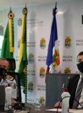 PMCE recebe visita do Secretário de Segurança, Sandro Caron